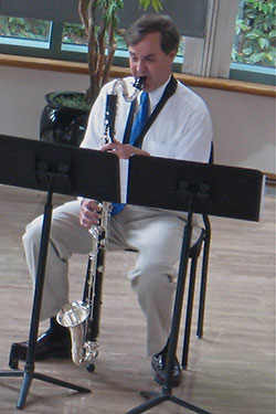 Tod with bass clarinet