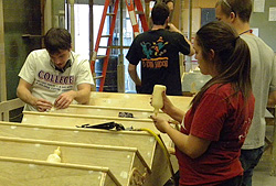 Students Working in the Scene Shop