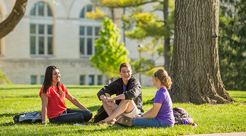 Undergraduate students on the Manhattan campus